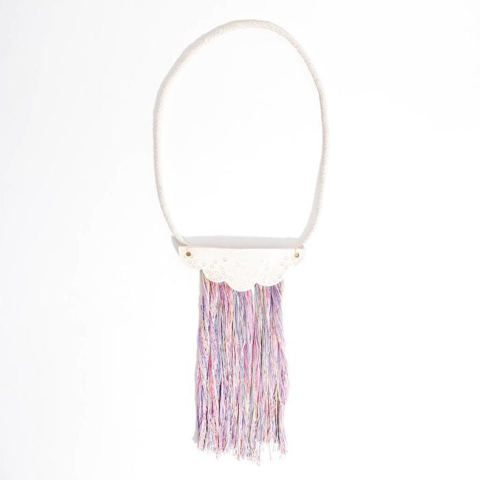 Rainbow Kimono Pastel Cloud Necklace