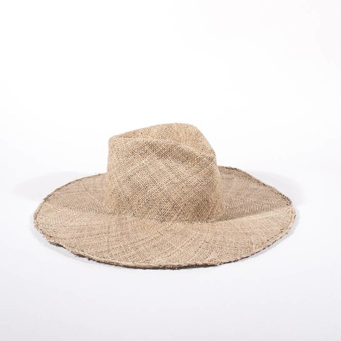 Clyde Wide Brim Pinch Seagrass Hat