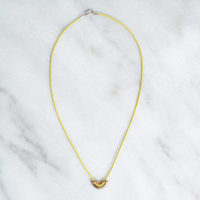 Open House Levee Necklace - Yellow