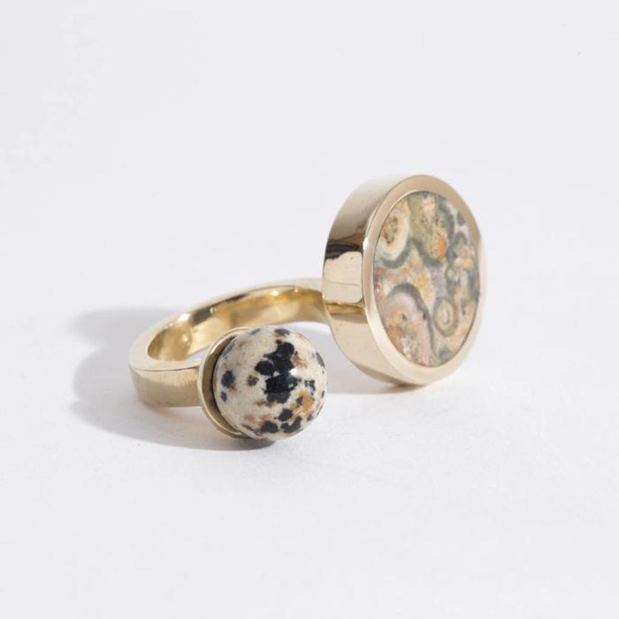 Quarry Jaspe Double Ring