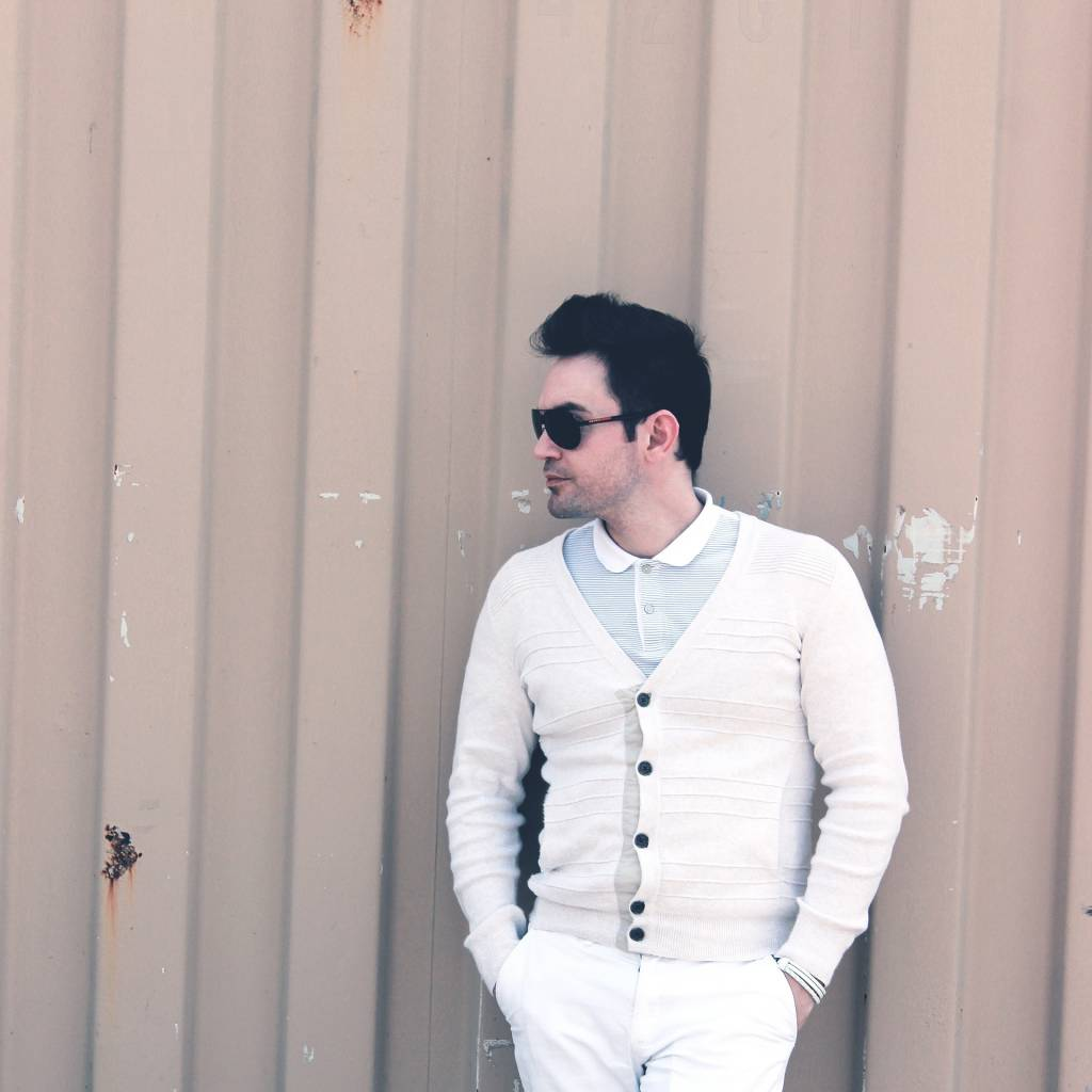 Man white shirt