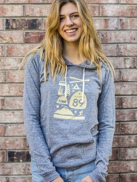 California 89 Women's Lightweight Wall Graphic Pullover