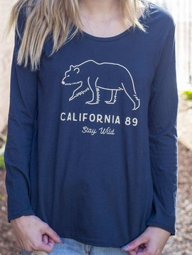 California 89 Women's long sleeve Stay Wild tshirt