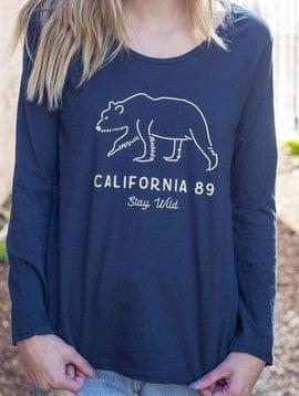 California 89 Women's long sleeve Stay Wild tshirt
