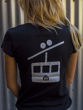 California 89 Women's Short Sleeve T-Shirt Shield on Front Gondola on Back