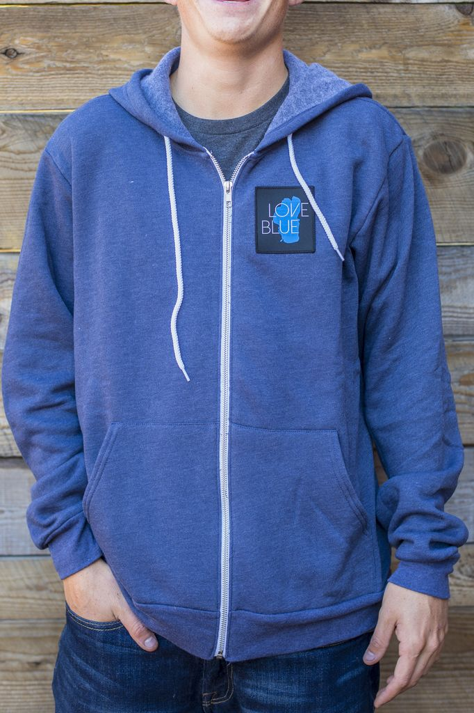 California 89 Love Blue Unisex Zip-Up Hoodie