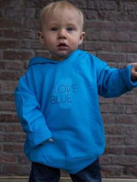 California 89 Toddler's Sweatshirt Love Blue Hoodie