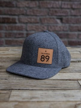 California 89 Capteur Hat Wool Flatbill Grey, CA89