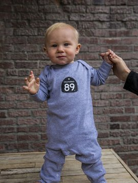 California 89 Long Sleeve Baby Onesie
