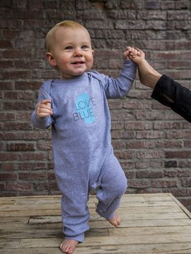 California 89 Love Blue Long Sleeve Baby Onesie
