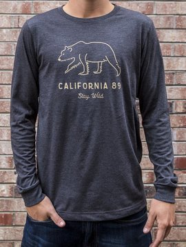 California 89 Men's Long Sleeve Stay Wild tshirt