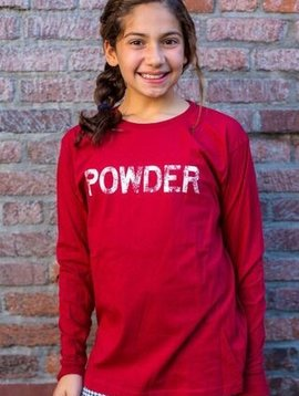 Kid's T-Shirts Kid's Long Sleeve Tshirt, POWDER Front, Gondola Back