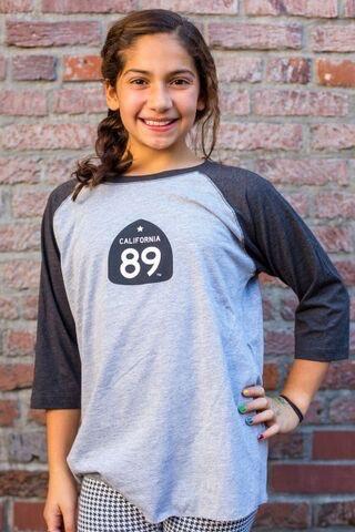 California 89 Gondola Kid's Baseball Tee