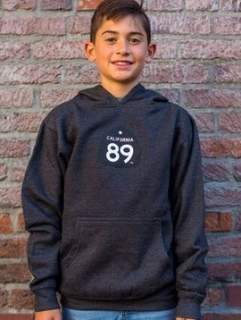 California 89 Kid's Sweatshirt Hooded Shield on Front