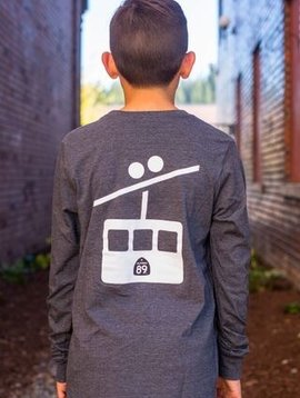Kid's T-Shirts Kid's long sleeve tshirt, Shield front, Gondola Back