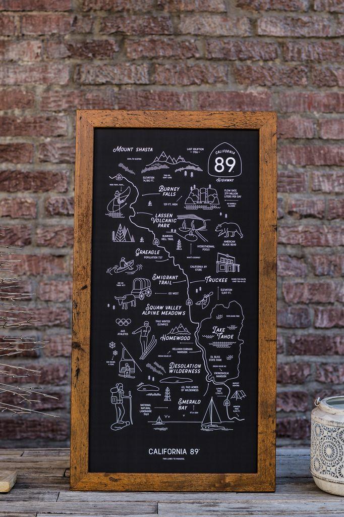 CA89 Road Map Poster