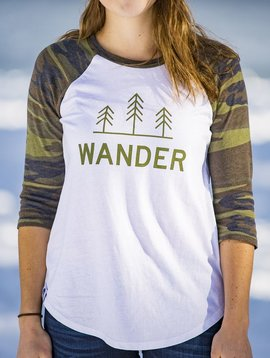 California 89 Women's Baseball Shirt, Wander Front