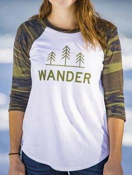 California 89 Women's Baseball Shirt, Wander Front
