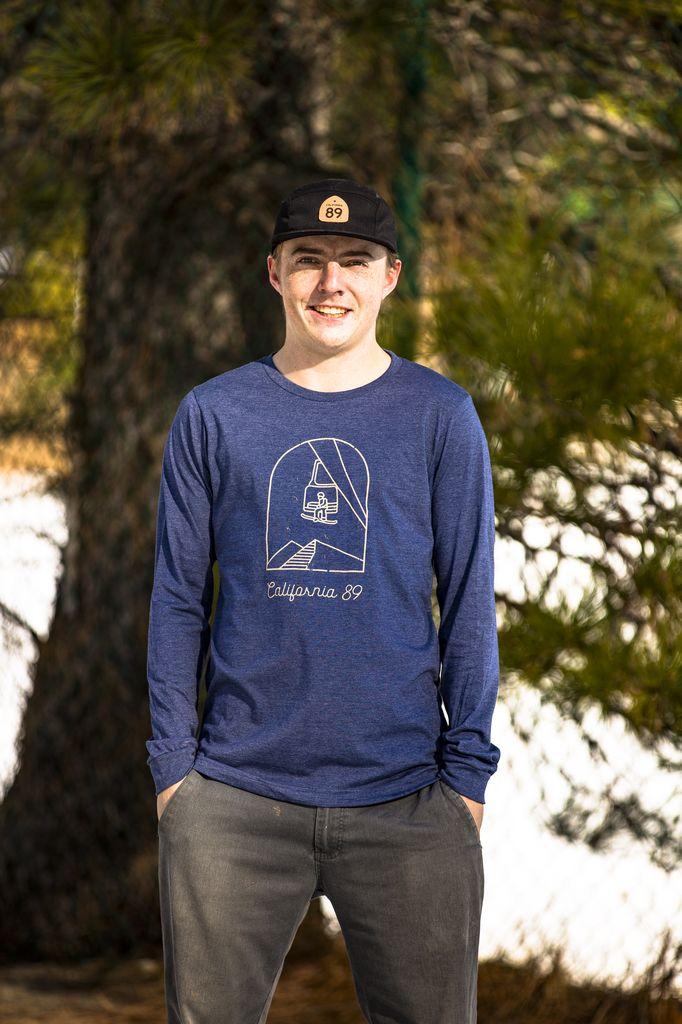 California 89 Men's long sleeve Chairlift tshirt