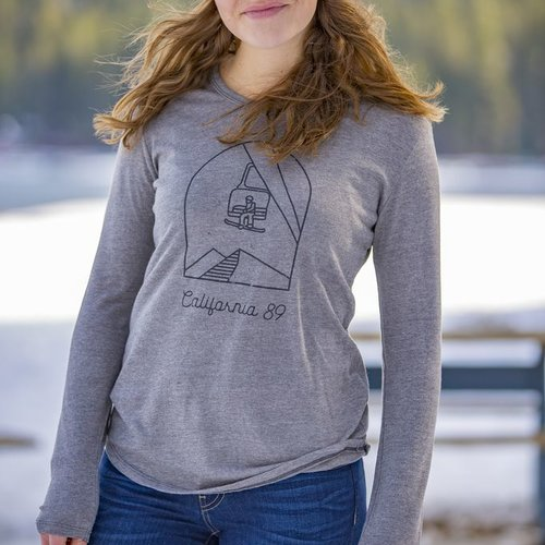 California 89 Women's Long Sleeve Chairlift Tee