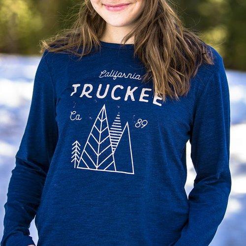 California 89 Women's long sleeve Truckee tshirt