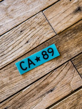 California 89 Teal Box Logo CA89 Sticker