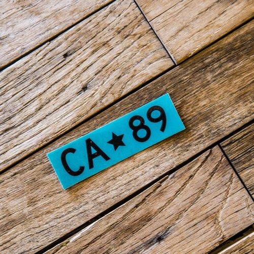 California 89 Teal Box Logo CA89 Sticker