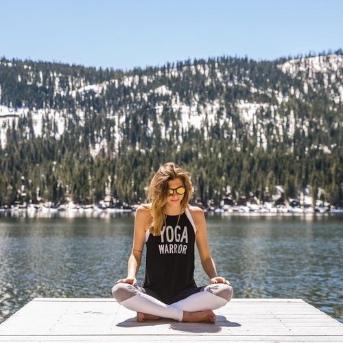 California 89 Women's High Neck Yoga Warrior Tank