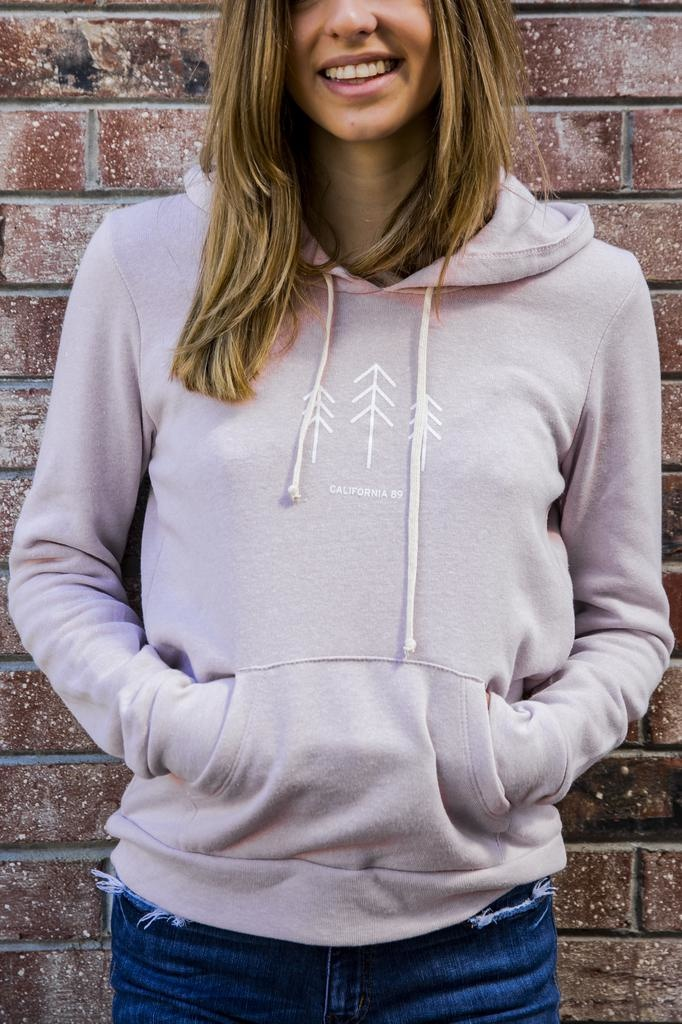 California 89 Women's Athletic Hoodie with Trees
