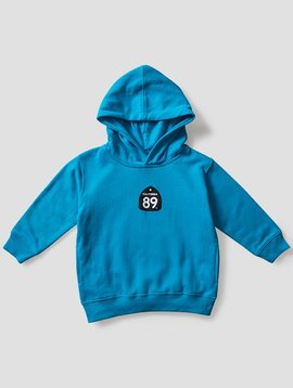 California 89 Toddler's Sweatshirt Hooded Shield on Front