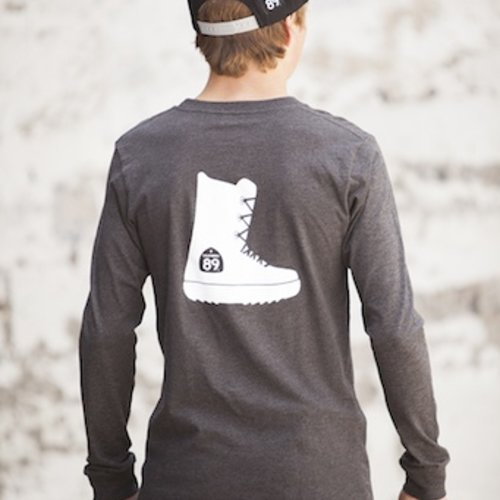 Men's Long Sleeve Tee Snowboard Boot Long Sleeve Men's Tee