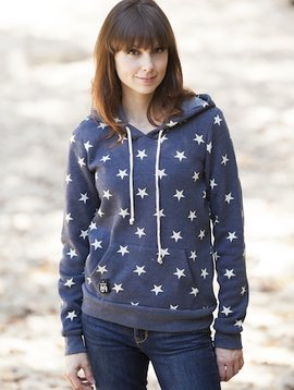 California 89 Women's Athletic Hoodie with Stars