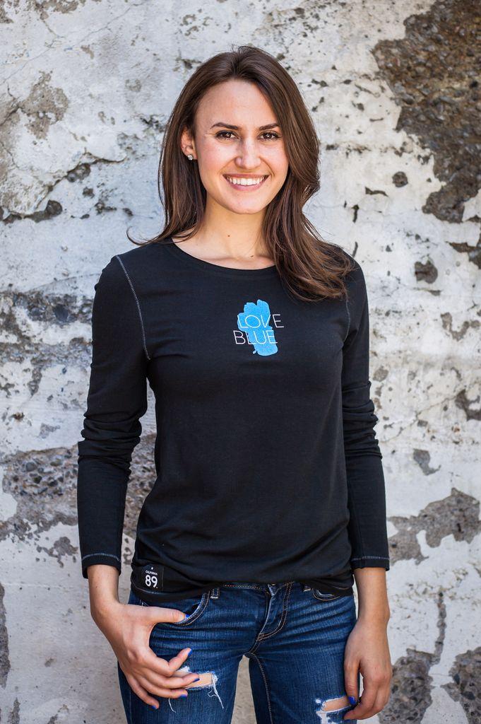 Women's T-Shirts Love Blue Bamboo Women's Long Sleeve Tee