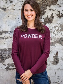 California 89 Women's Flowy Long Sleeve POWDER Shirt