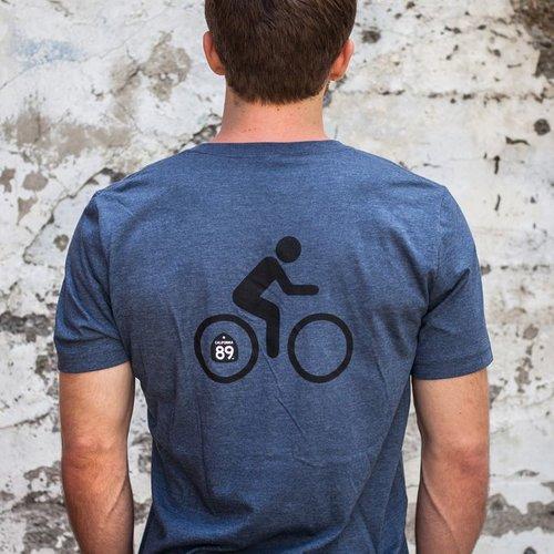Men's Tshirt Bicycle Men's V-Neck Tee