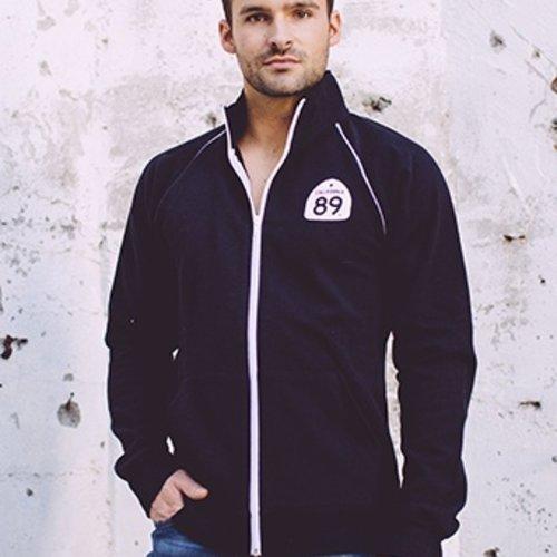 California 89 Unisex Zip Up Track  Sweatshirt