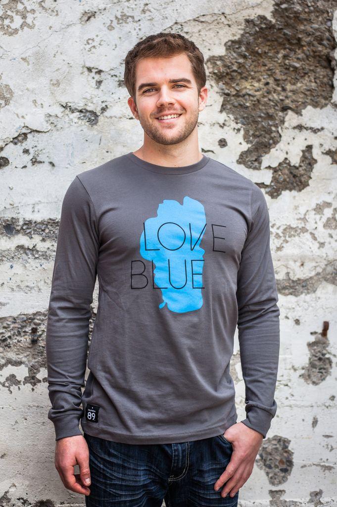 California 89 Love Blue Men's Long Sleeve Tee