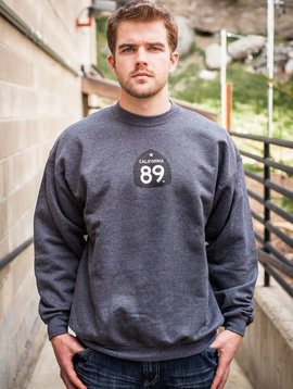 California 89 Unisex Sweatshirt Crewneck Shield on Front CA*89 on Bottom Right Back