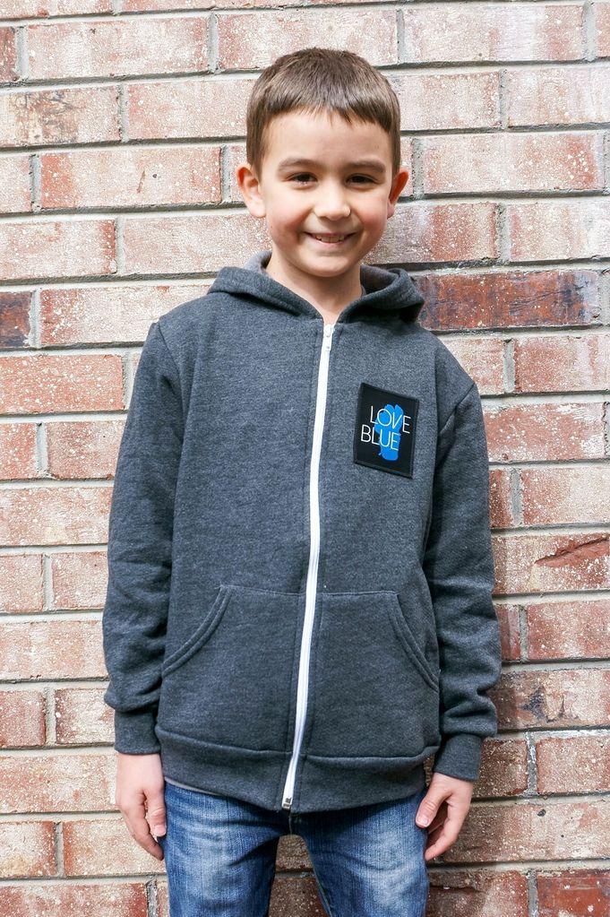 California 89 Love Blue Kid's Zip Hoodie