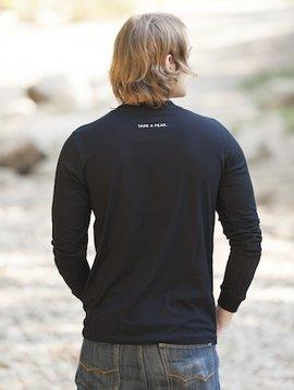 Men's Long Sleeve Tee Men's Long Sleeve T-Shirt Shield on Front Take a Peak on Back