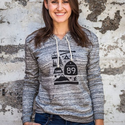 California 89 Wall Graphic Women's Pullover