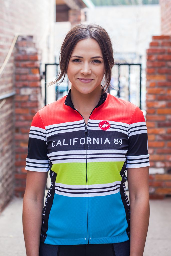 California 89  Striped Women's Castelli Bike Jersey