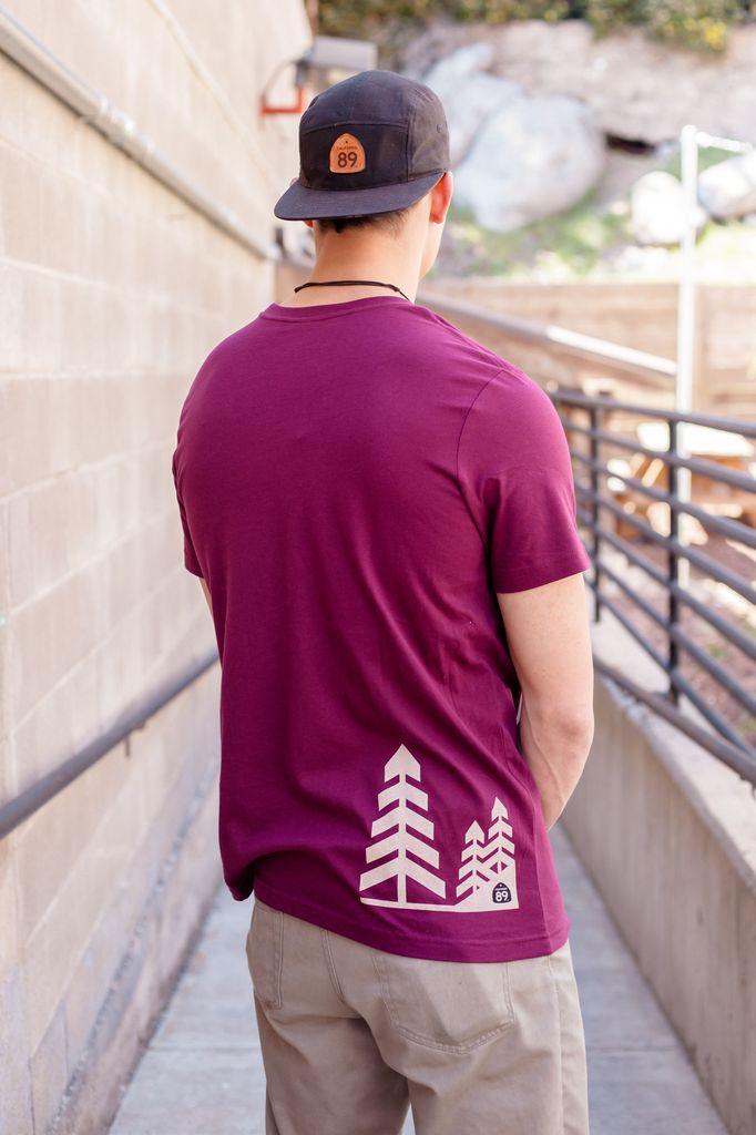 California 89 Trees Graphic Men's Tee