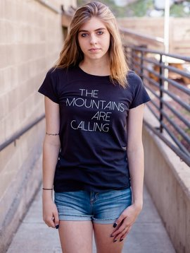 California 89 Women's short sleeve t-shirt, Mtns are calling on front, Mtns on back