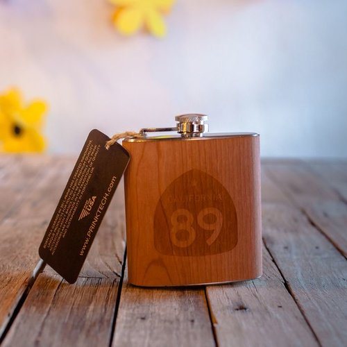 California 89 California 89 Wooden Flask