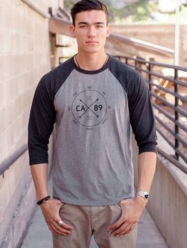 California 89 Unisex Baseball shirt with Action Dial Front