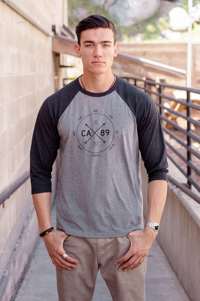 California 89 Action Dial Graphic Unisex Baseball Tee