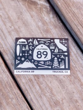 California 89 Stickers with graphics
