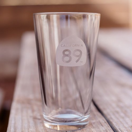 California 89 California 89 Etched Pint Glass