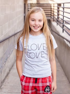 California 89 Girl's Love Love T-shirt